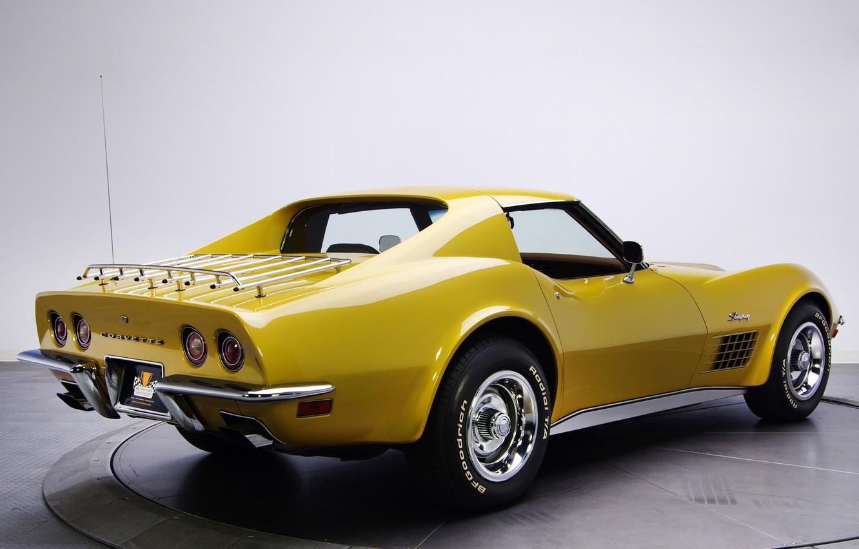 Photo wallpaper car, Corvette, Chevrolet, retro, 1970, classic, Stingray