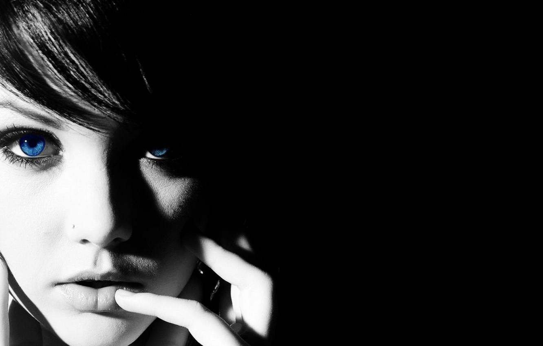 Photo wallpaper look, girl, black and white, girl, black and white, look, Melissa Clarke