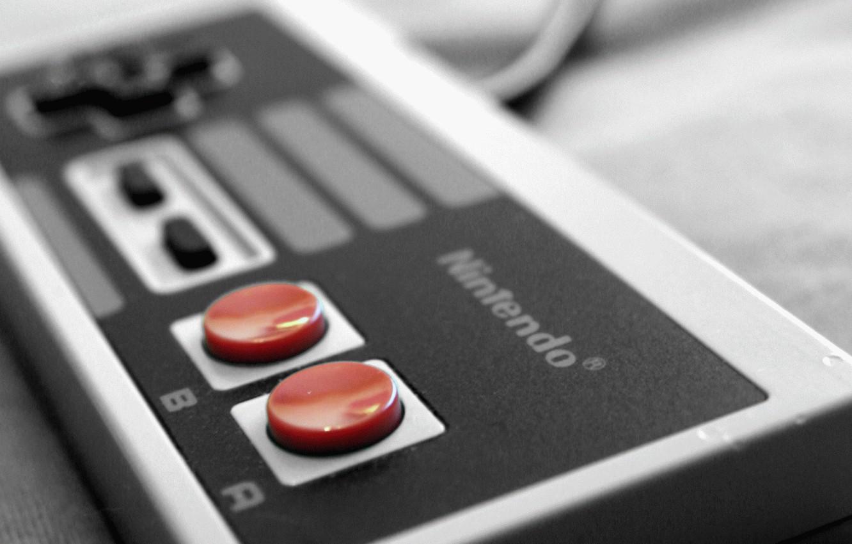 Photo wallpaper joystick, console, nintendo