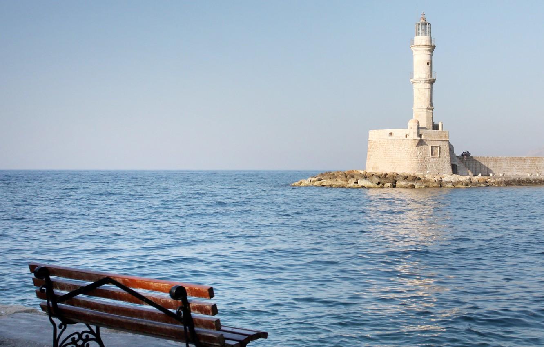 Photo wallpaper sea, nature, lighthouse