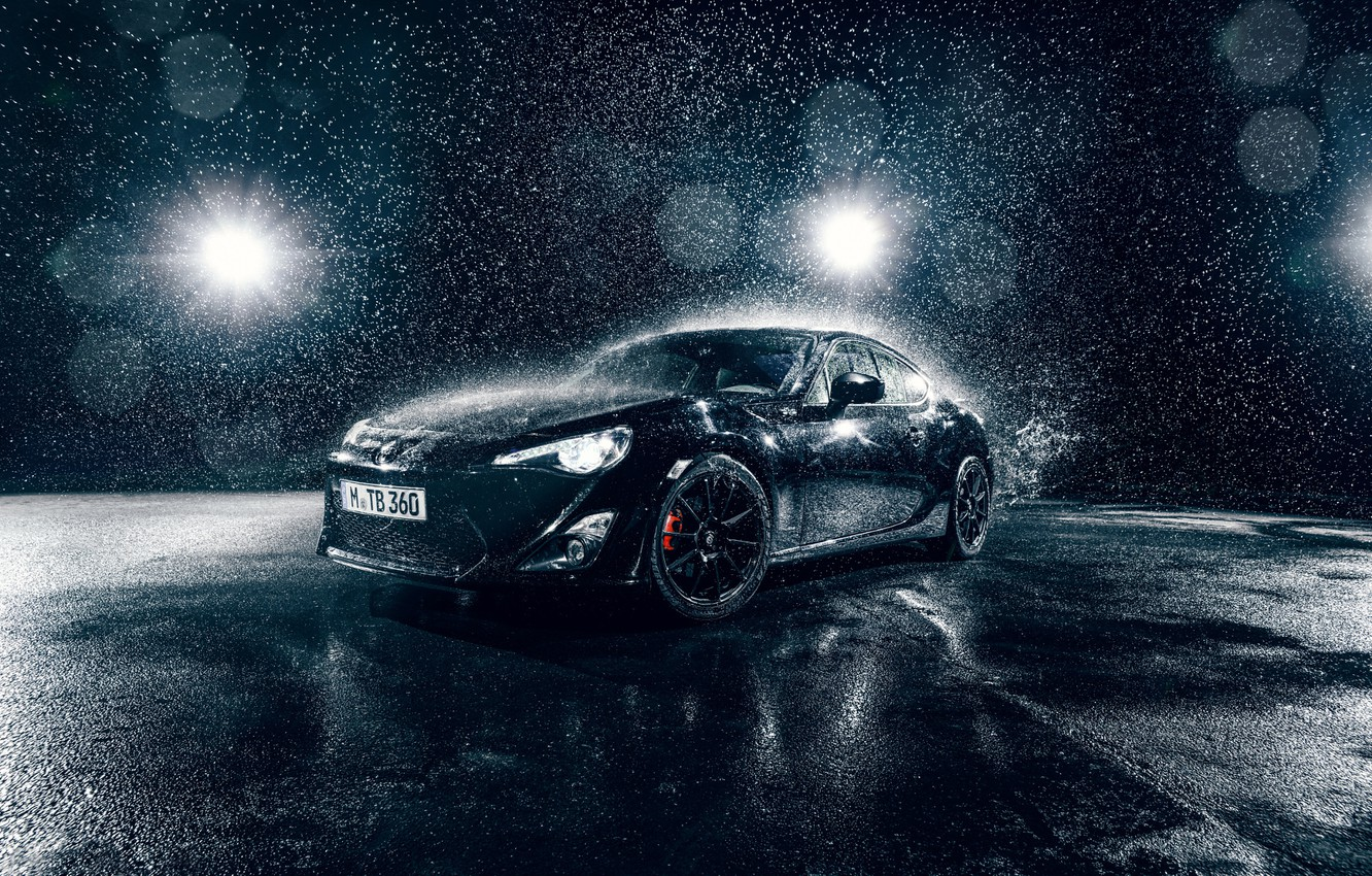 Photo wallpaper Toyota, Car, Front, Water, Sport, GT86, B;ack