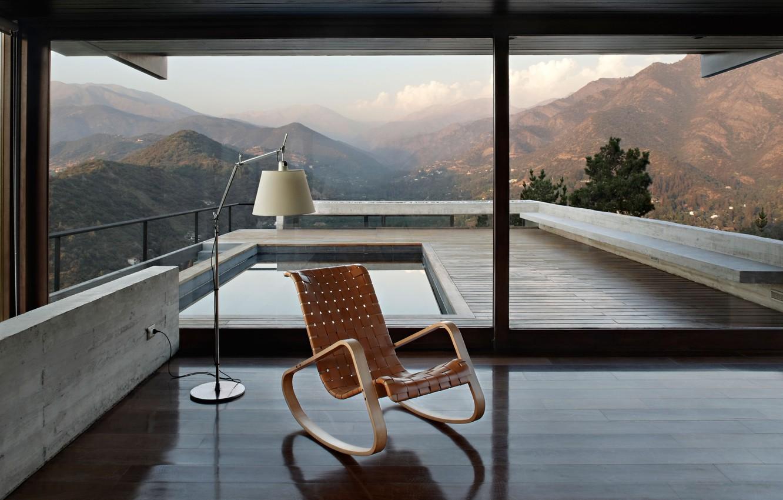 Photo wallpaper villa, luxury, living space