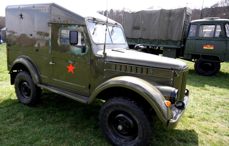 Photo wallpaper car, Soviet, terrain, GAZ-69, GAZ-69