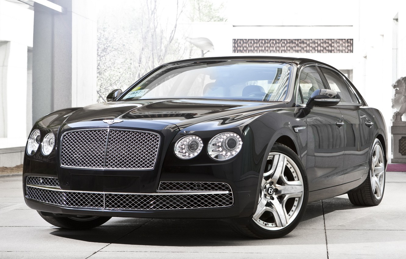 Photo wallpaper car, machine, Bentley, luxury, the front, new, 2013, Flying Spur
