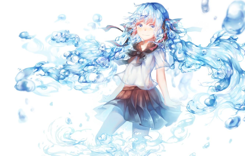 Photo wallpaper girl, anime, art, vocaloid, hatsune miku, bottle miku, amago