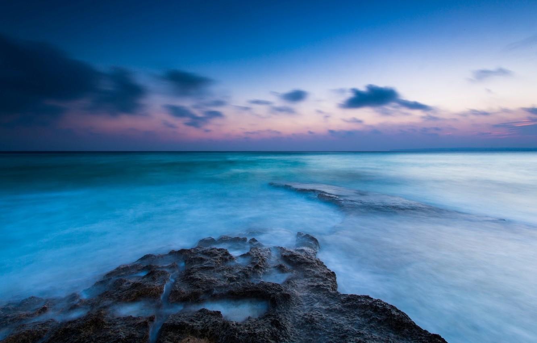 Photo wallpaper sea, the sky, water, clouds, landscape, river, background, the ocean, blue, widescreen, Wallpaper, horizon, wallpaper, …
