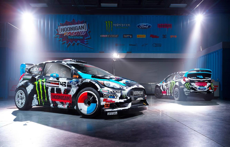 Photo wallpaper Ford, Racing, Rally, Block, Ken, Fiesta, Unit, Ken, Division, Gymkhana, 2014, Hoonigan