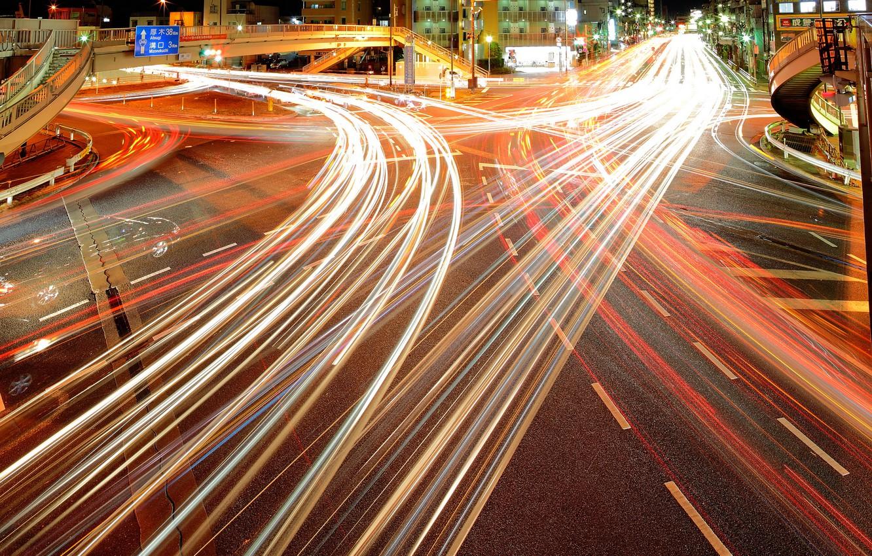 Photo wallpaper lights, home, Tokyo, lights, Tokyo, night city, the motorway