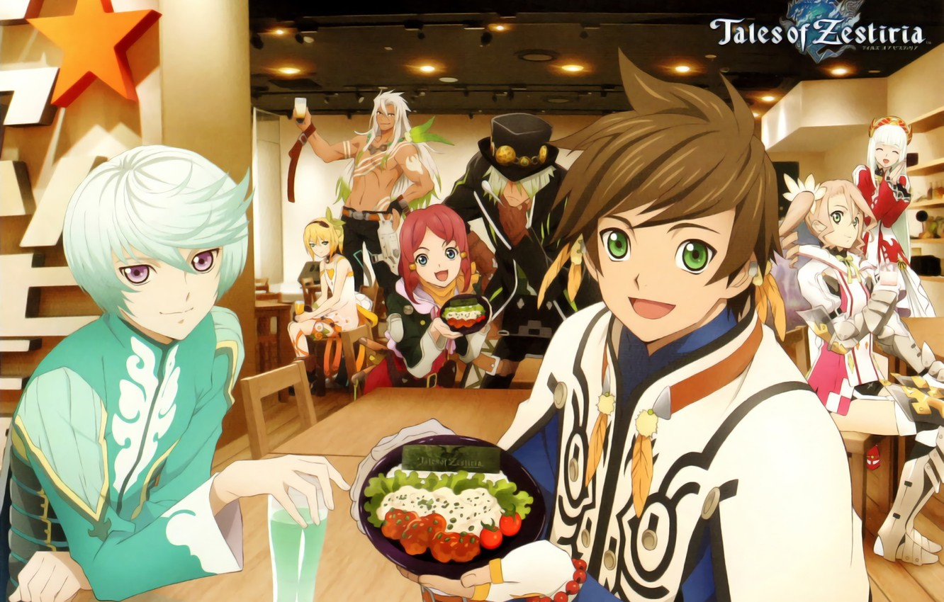 Photo wallpaper anime, cafe, characters, Tales of Zestiria