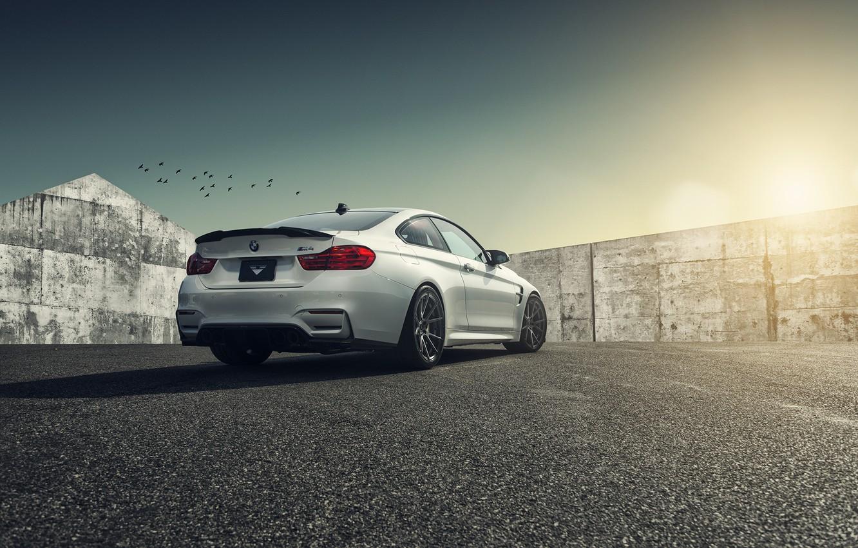 Photo wallpaper BMW, Vorsteiner, White, Forged, Wheels, F82, Flow, Rear, V-FF, 106