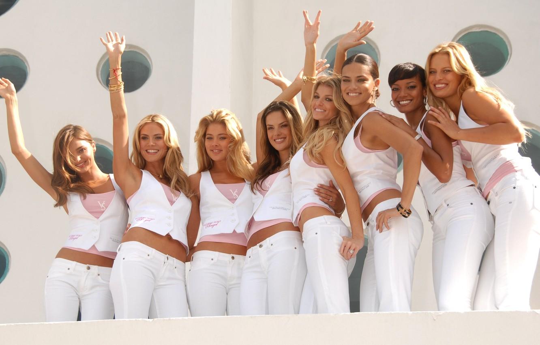Photo wallpaper Doutzen Kroes, Adriana Lima, Alessandra Ambrosio, Marisa Miller, model, beauty, Heidi Klum, Selita Ebanks, models, …