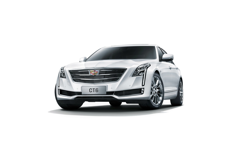 Photo wallpaper Cadillac, white background, sedan, Cadillac, CT6