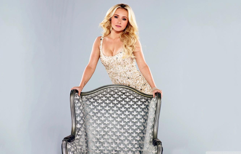 Photo wallpaper chair, dress, actress, Hayden Panettiere, blonde, the series, Hayden Panettiere, promo, Nashville