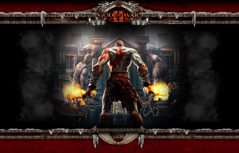 Wallpaper Fire Flame Sword Demigod Soldier Kratos God Of War