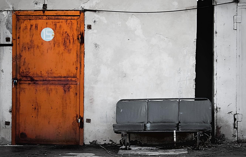 Photo wallpaper Style, The door, Shop, Room