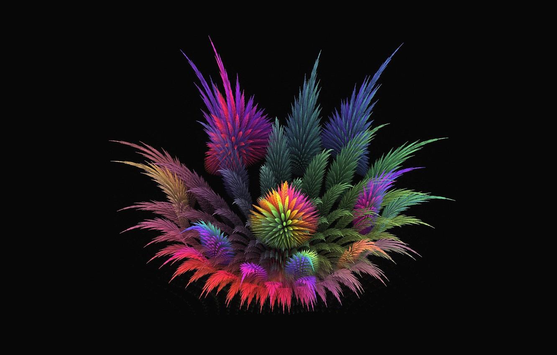 Photo wallpaper flower, background, fractal