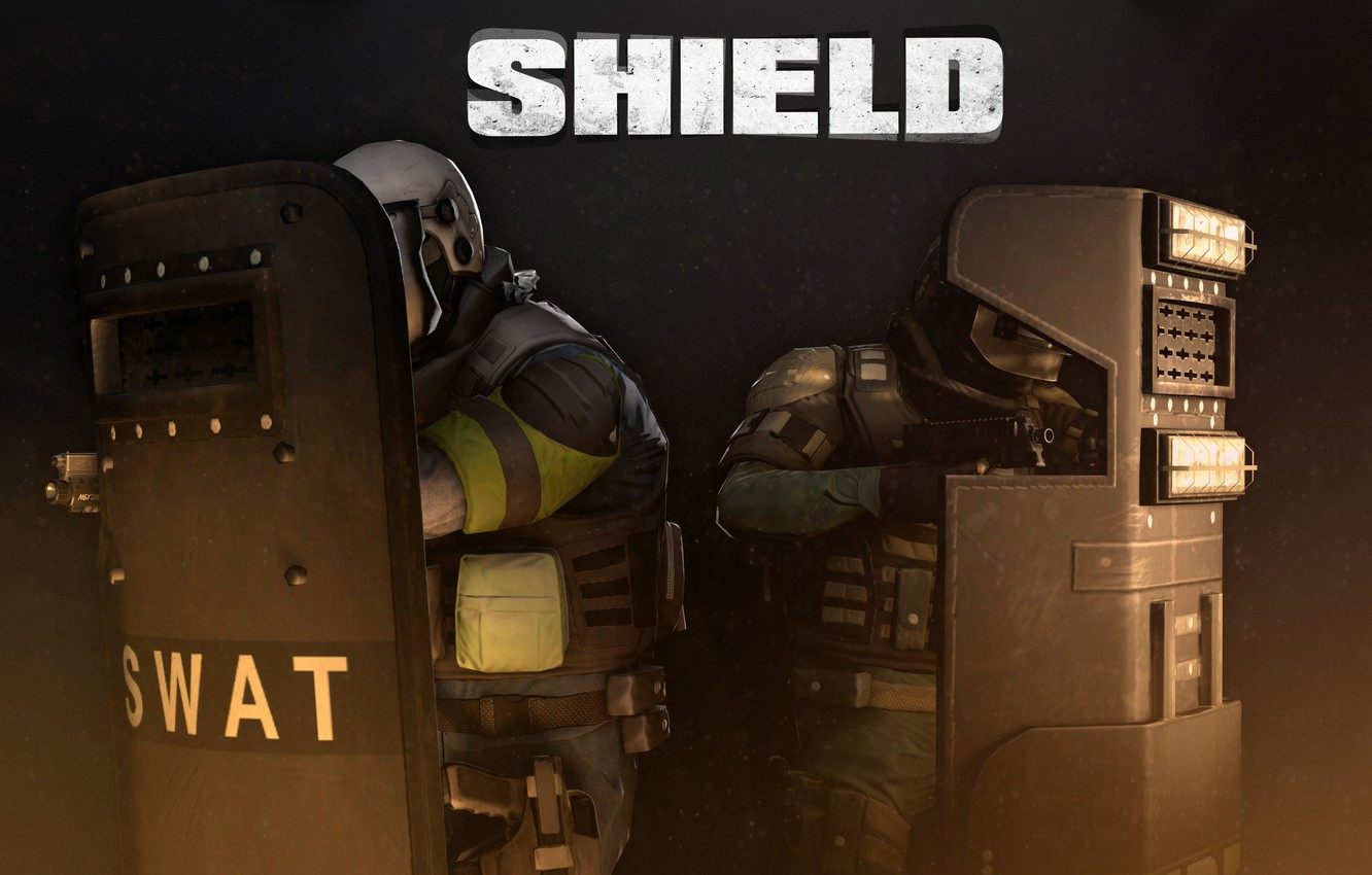 Photo wallpaper Shield, Shield, Overkill Software, PAYDAY 2