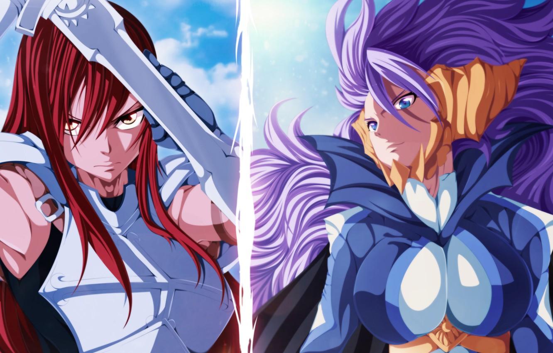 Photo wallpaper anime, art, fairy tail, Ezra Scarlet, Mirajane