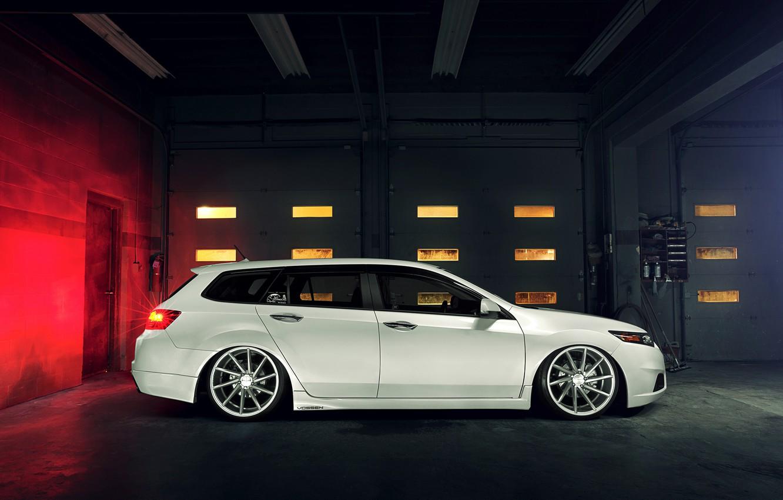 Wallpaper tuning, profile, white, white, Honda, Honda