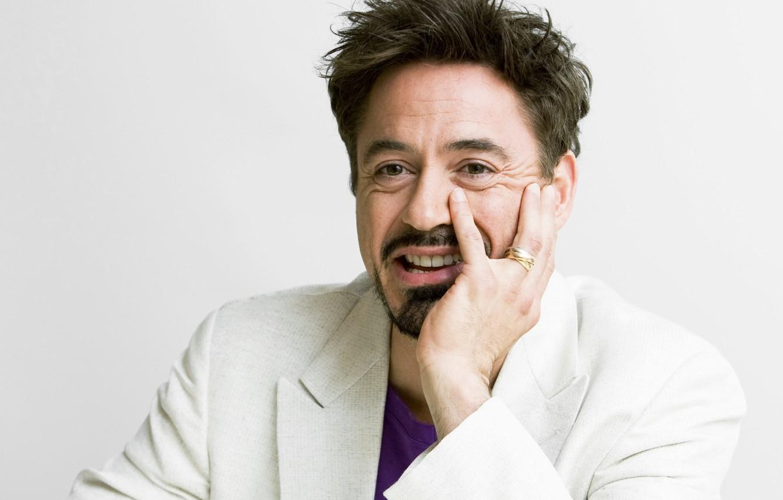 Photo wallpaper smile, hand, ring, robert downey jr, Robert Downey Jr.