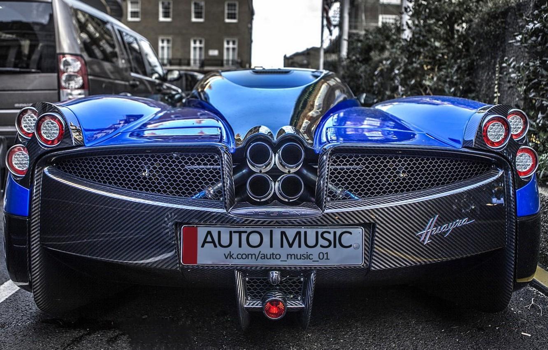Photo wallpaper blue, supercar, Pagani