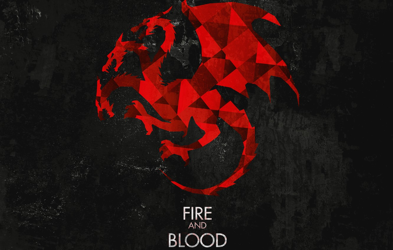 Photo wallpaper dragon, Game of Thrones, game of thrones, fire and blood, Targaryen, fire and blood, house …