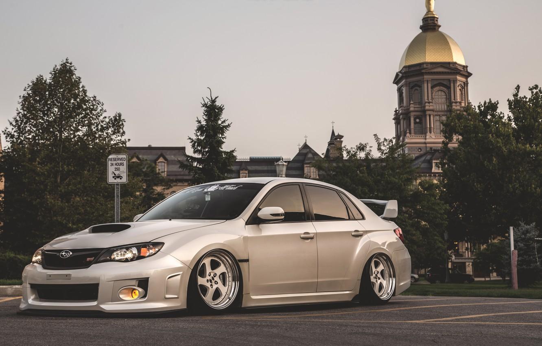 Photo wallpaper Subaru, Impreza, WRX, STi, JDM, Stance, Low, BellyScrapers, Rotiform