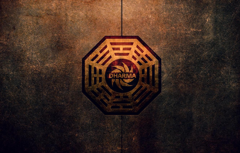 Photo wallpaper logo, Lost, dharmainitiative
