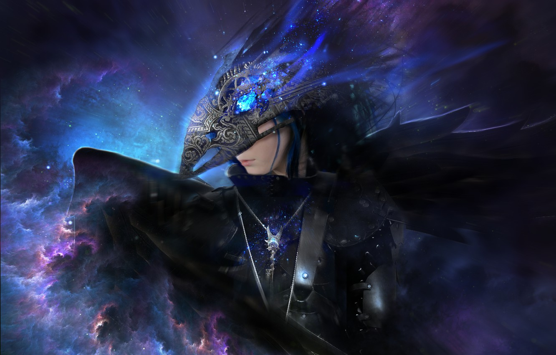 Photo wallpaper girl, fiction, beak, mask, art, Raven, raven