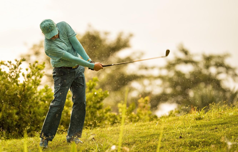 Photo wallpaper sport, blow, Golf