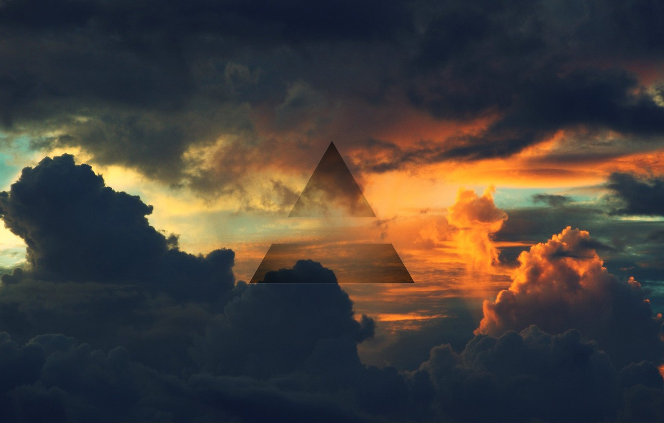 Wallpaper The Sky The Air Symbol Triangle 30 Seconds To Mars