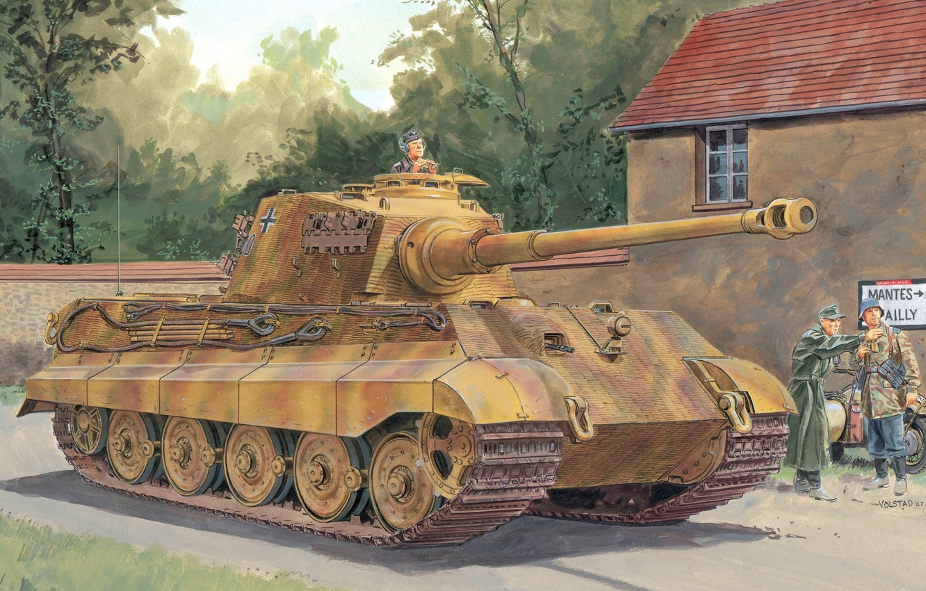 Photo wallpaper Germany, Tank, the Germans, the Wehrmacht, Royal tiger