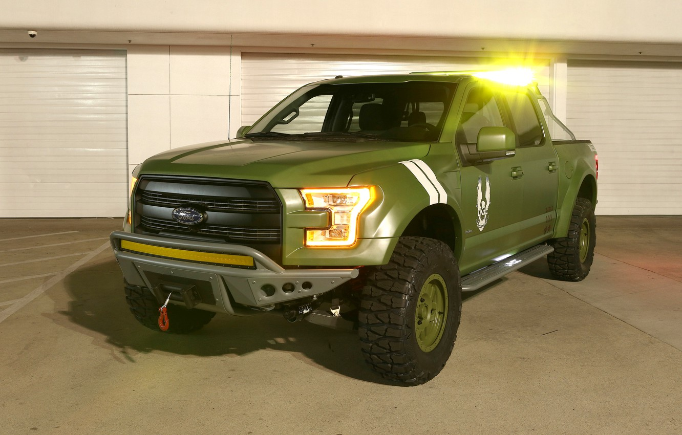 Photo wallpaper Green, Special Edition, Ford F-150, Halo Sandcat