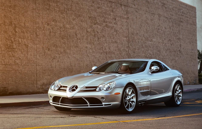 Photo wallpaper McLaren, SLR, Mercedes, Benz