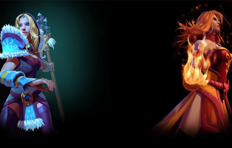 Photo wallpaper steam, Crystal Maiden, Dota 2, Lina, Background profile