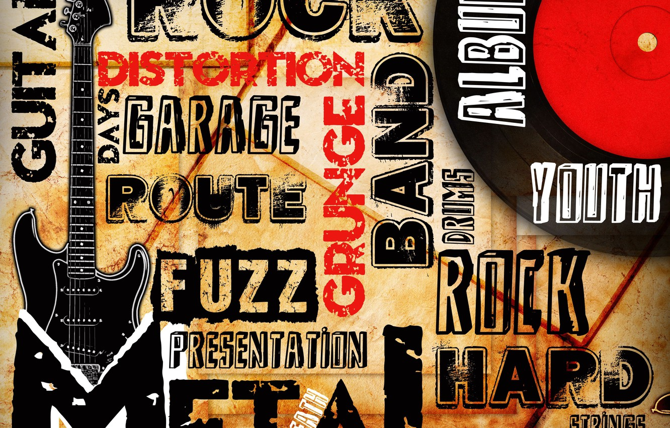 Photo wallpaper style, music, guitar, music, metal, guitar, Rock, rock, directions, band, grunge, picture, album, route, distortion