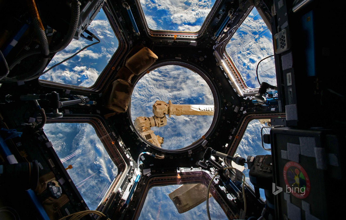 Wallpaper Iss The Dome The International Space Station