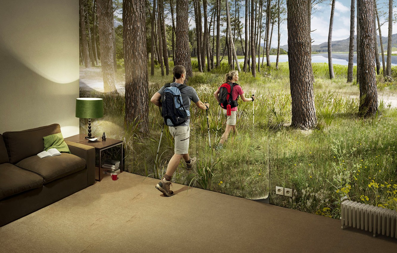 Photo wallpaper nature, creative, room, stay, Wallpaper, humor, tourism, hike, Novel Lauren, romain laurent