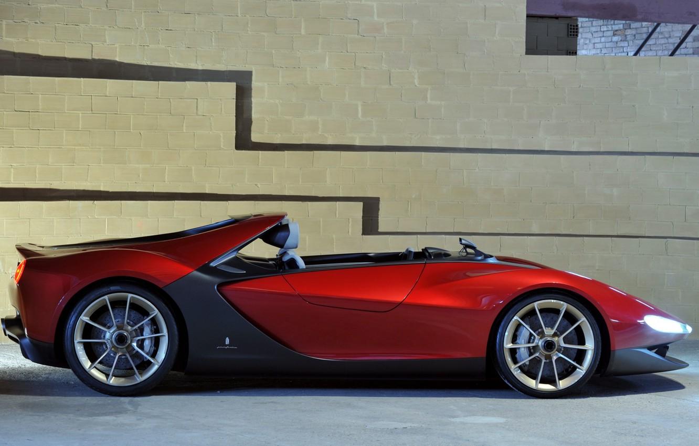 Photo wallpaper Concept, wall, view, Ferrari, side, Sergio