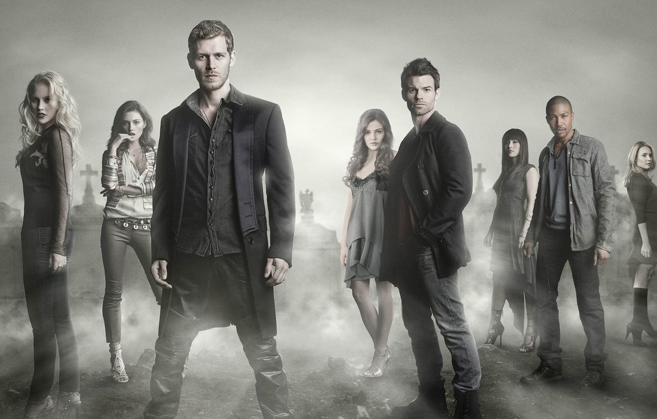 Wallpaper The Vampire Diaries Fog Actors Cemetery Joseph