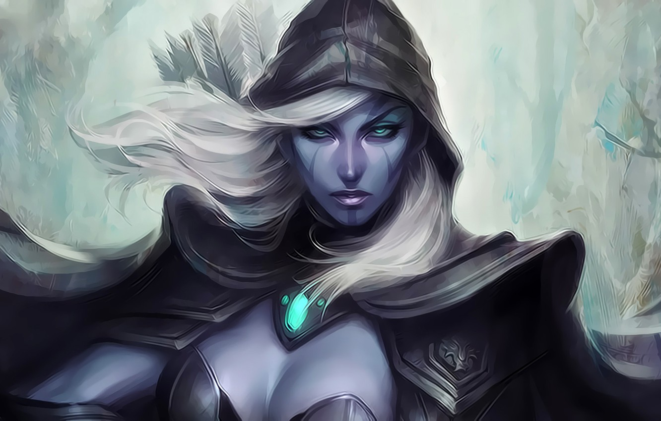 Wallpaper Look Girl Art Blonde Hood Cloak Arrows Artgerm