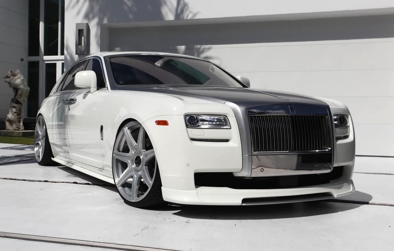 Photo wallpaper Rolls-Royce, white, Ghost, Vorsteiner, RR04, VSE-004