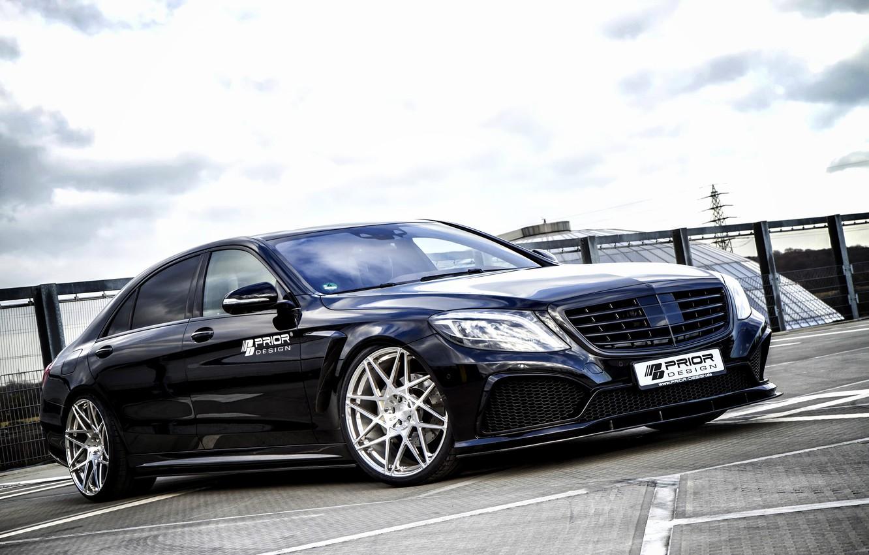 Photo wallpaper Mercedes-Benz, Mercedes, AMG, S-Class, Benz, 2014, Prior-Design, W222
