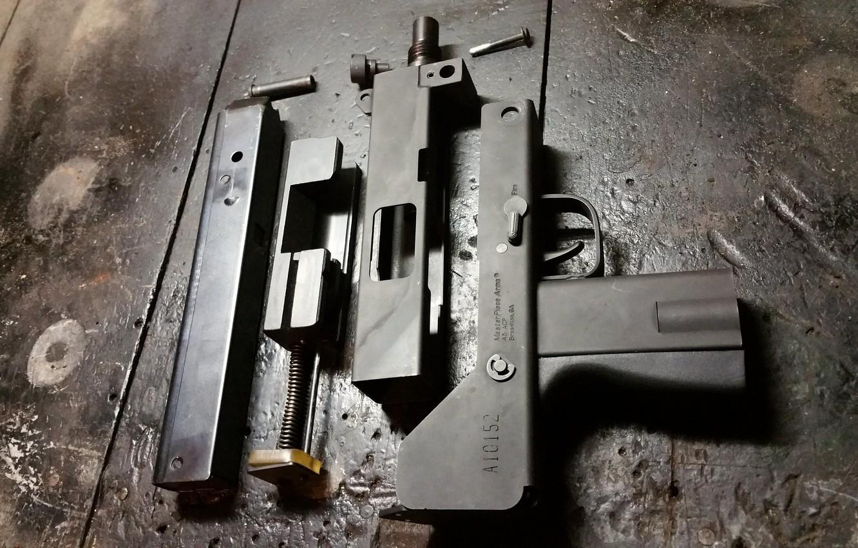 Photo wallpaper details, compact, the gun, disassembled, MAC-10, Ingram