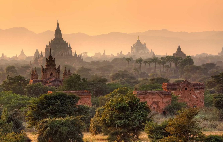 Photo wallpaper asia, temple, burma, myanmar