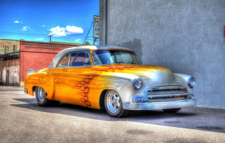 Photo wallpaper design, retro, HDR, car, classic