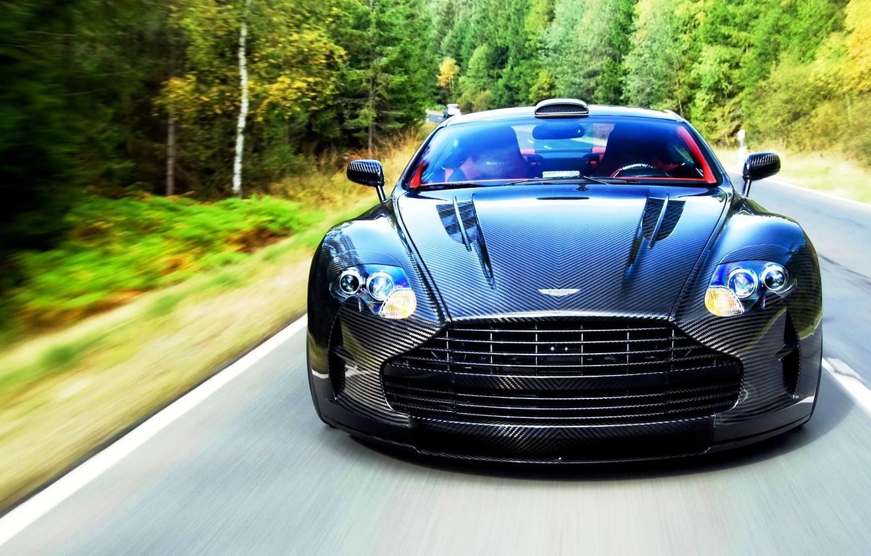 Photo wallpaper Aston Martin, carbon, DB9 or DBS