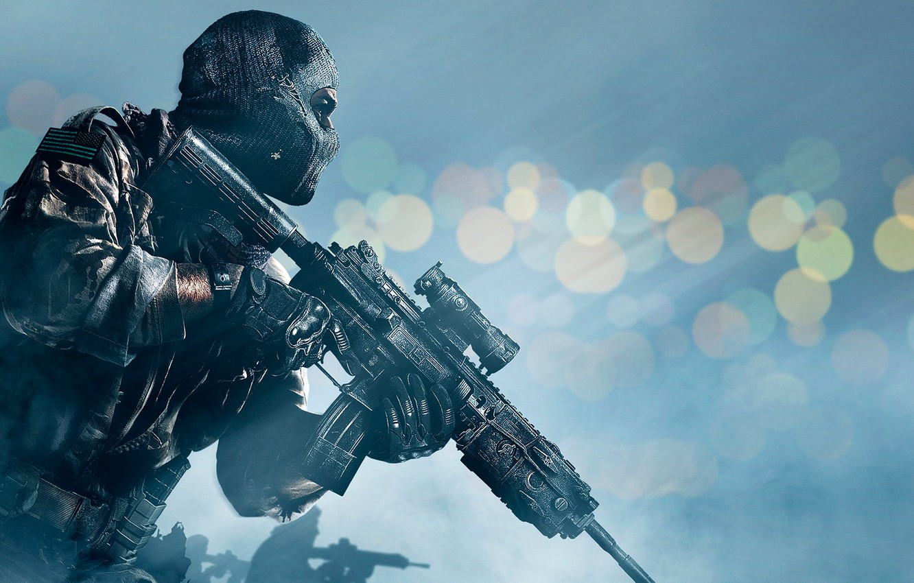 Wallpaper Soldiers Weapons Mask Military Activision