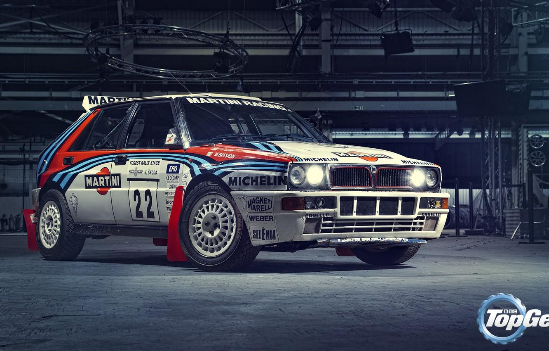 Photo wallpaper Top Gear, Lancia, Delta, Martini Racing, Integrale