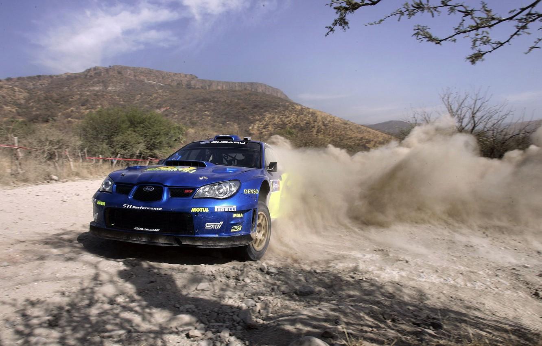 Photo wallpaper race, Subaru, skid, rally